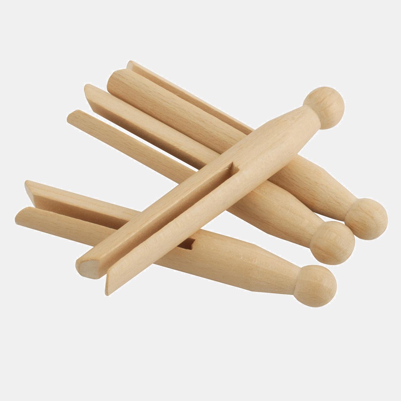 Set de 25 cârlige pentru rufe old-school, din lemn natural cerat, netratat. Retro, ca pe vremuri în grădina bunicii.