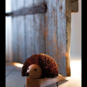 Arici opritor de usa, din lemn, facut manual