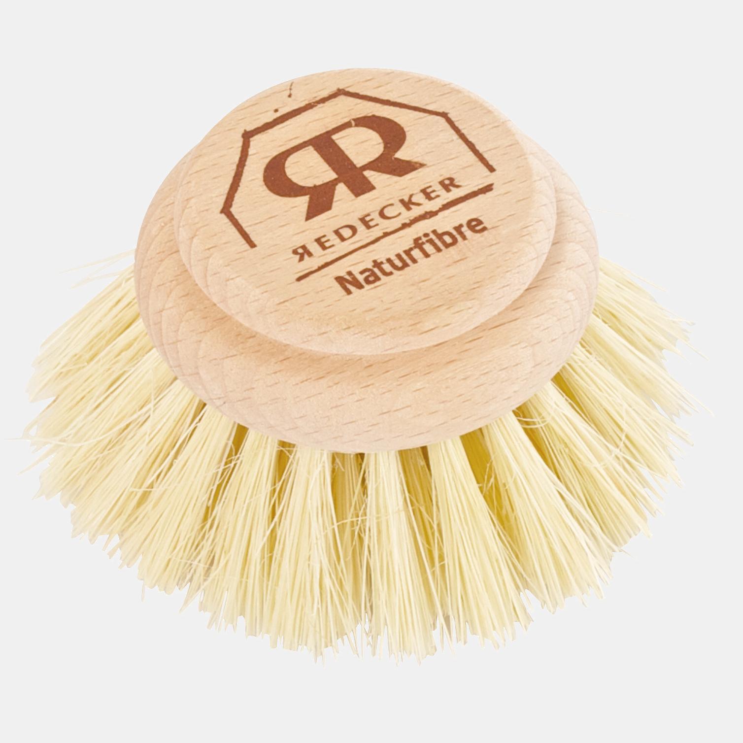 Rezervă pentru perie de spălat vase, modelul tare de 4 cm. Lemn de fag netratat, fibră tampico de agave. Diametru perie: 5cm.