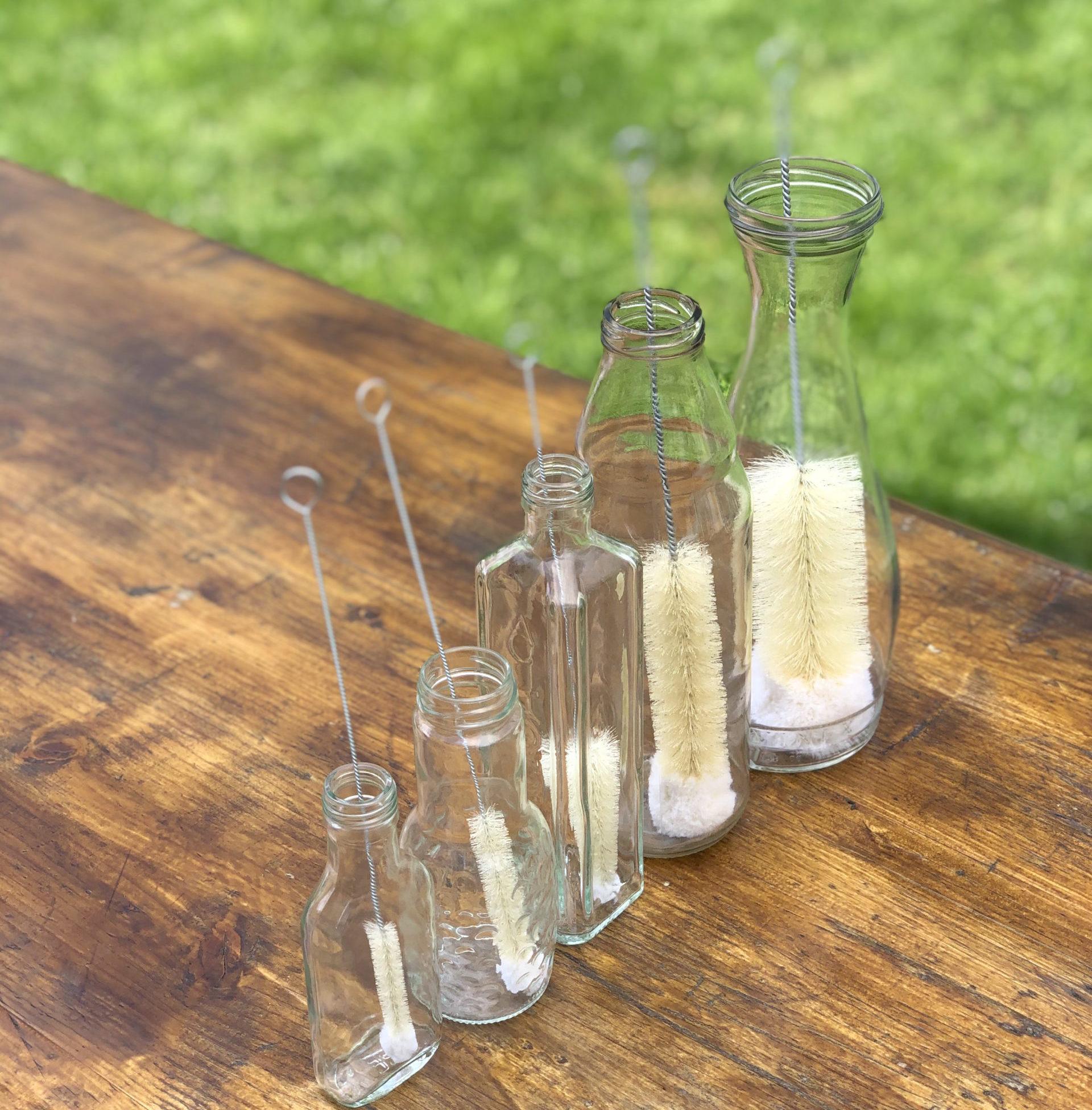 Set de 5 perii naturale pentru sticle