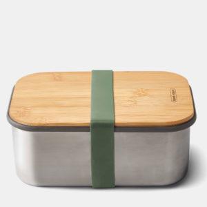 Cutie inox cu capac din bambus, pentru sandwich, 100% fara plastic. 1.25L